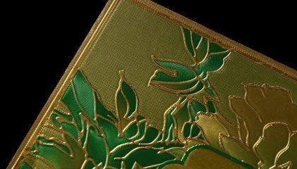 金箔浮雕标签